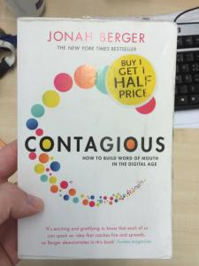 """Contagious - how to build word of mouth in digital age"" Jonah Berger."