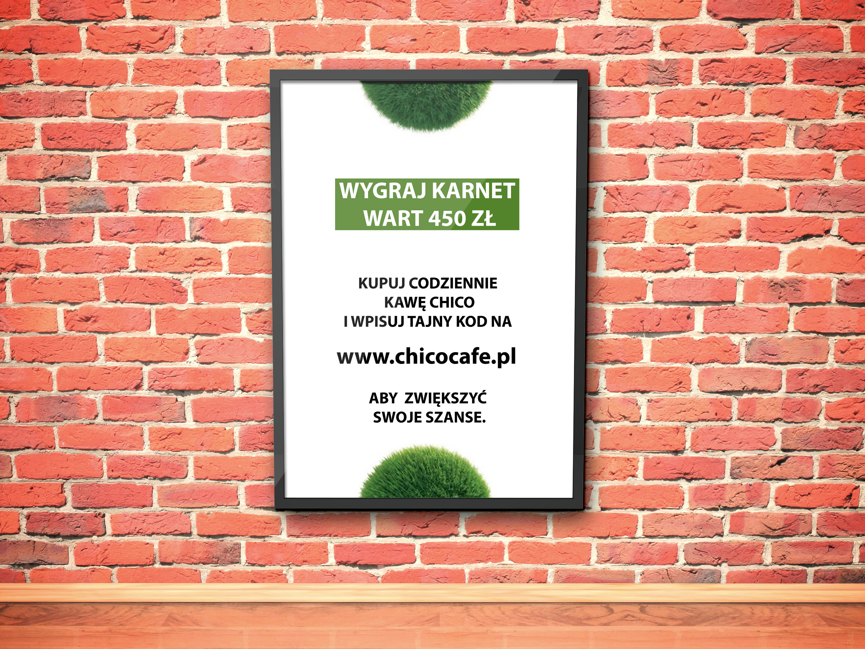 Plakat promujący akcję. Jak zwiększyć sprzedaż w restauracji poprzez konkurs.