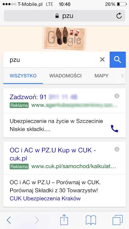 Pozyskiwanie klientów dla agenta ubezpieczeniowego w Szczecinie poprzez płatne reklamy w Google.