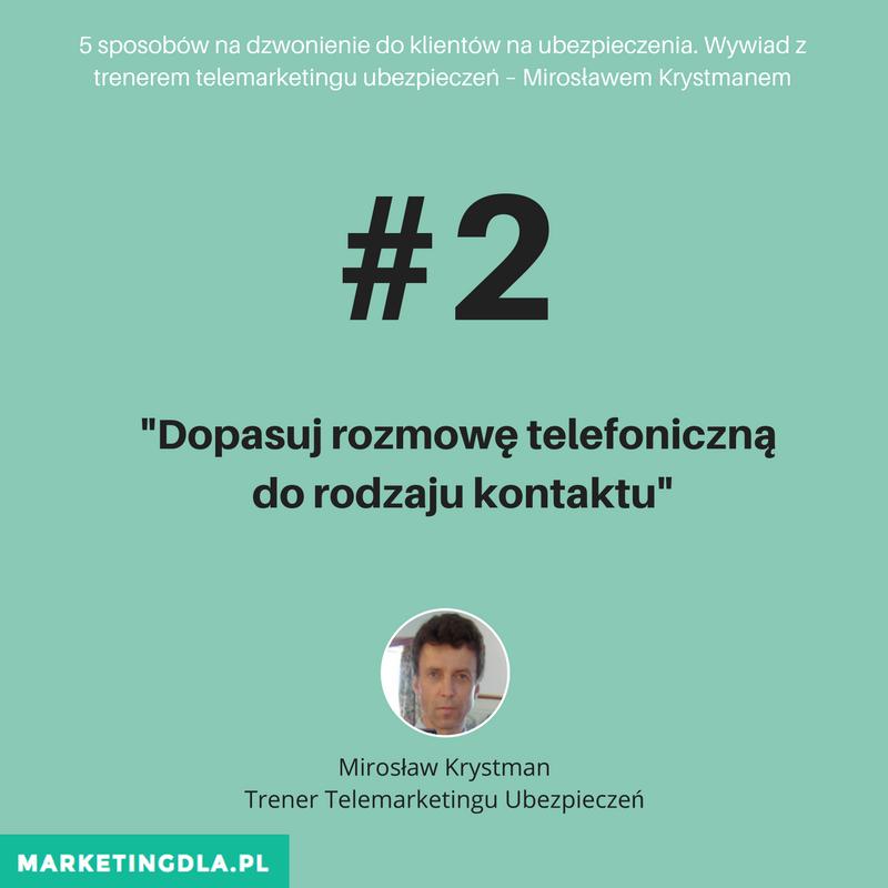 5 sposobów na dzwonienie do klientów na ubezpieczenia. Wywiad z trenerem telemarketingu ubezpieczeń – Mirosławem Krystmanem (MDAU 006)